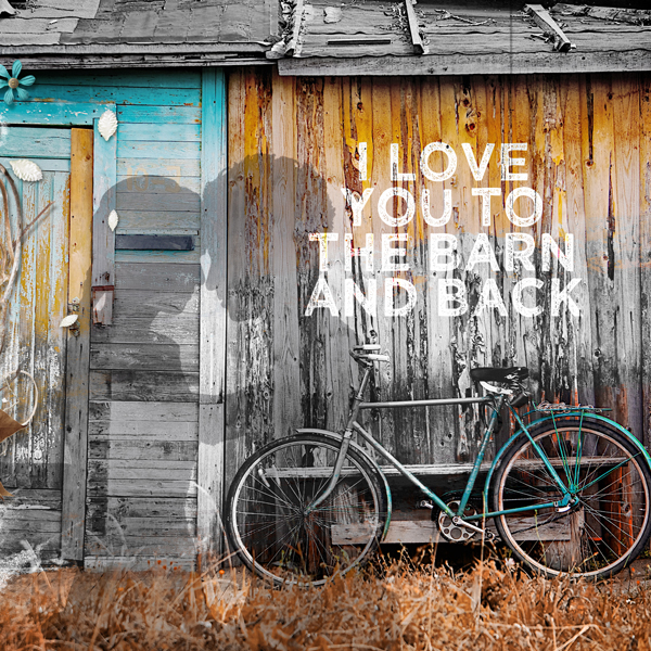 Close up of Love You to the Barn & Back. See full double page spread below.
