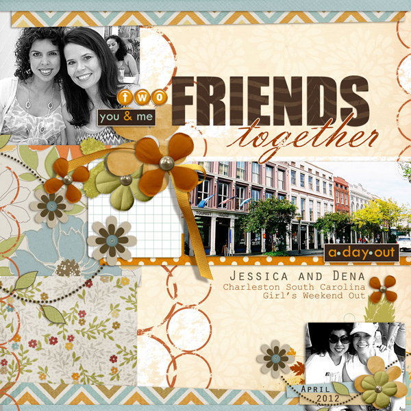 Two Friends Together layout by Brandy Murry. See below for links to all products used in this digital scrapbooking layout.
