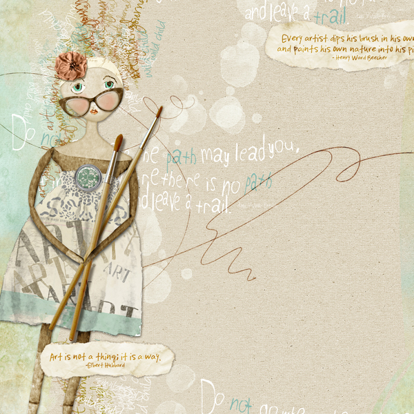 Leave a Trail layout by Brandy Murry. See below for links to all products used in this digital scrapbooking layout.