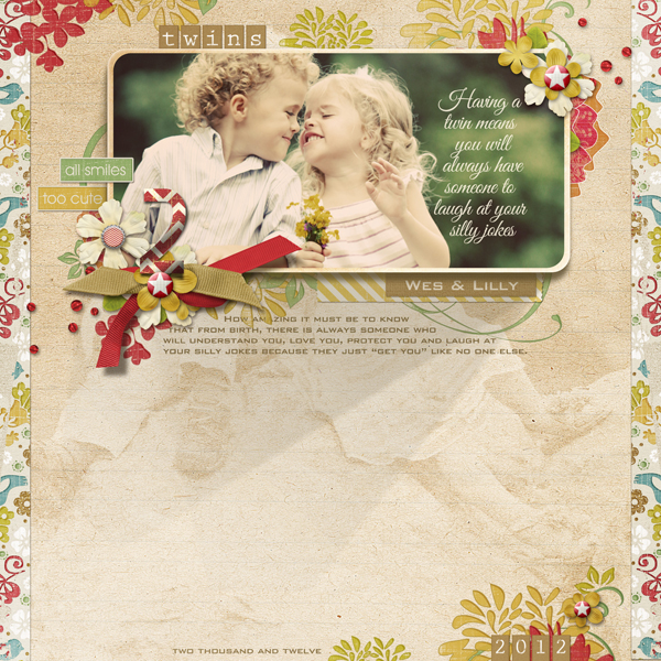 """Laugh"" layout by Brandy Murry, see below for products used in this layout."