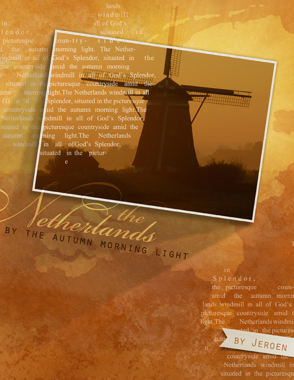 """""""Autumn Morning Light"""" layout by Brandy Murry, see below for products used in this layout."""
