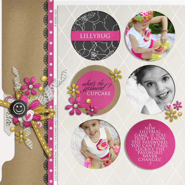 """Cupcake"" digital scrapbooking layout by Brandy Murry"