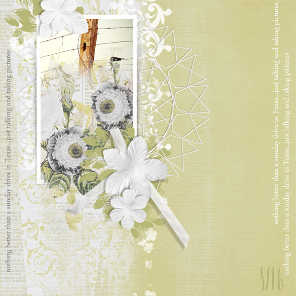 """Texas Drive"" digital scrapbooking layout by Brandy Murry"