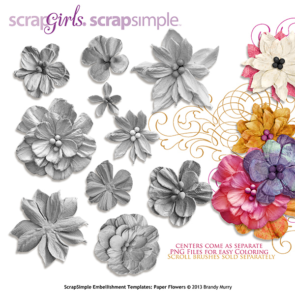 Scrapsimple embellishment templates paper flowers mightylinksfo