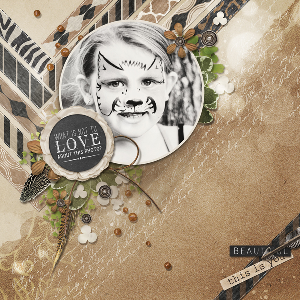 """What's Not to Love"" digital scrapbooking layout by Brandy Murry"