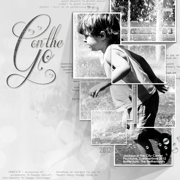 """""""On the Go"""" digital scrapbooking layout by Brandy Murry"""