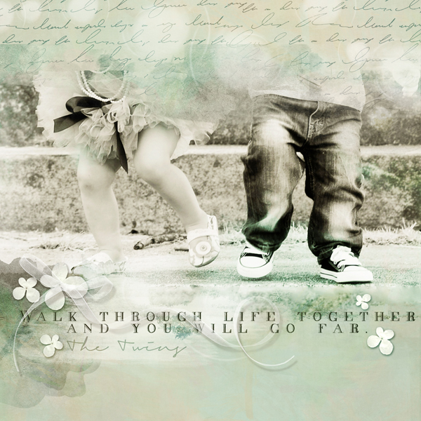 """""""Walk Through Life Together"""" digital scrapbooking layout by Brandy Murry."""