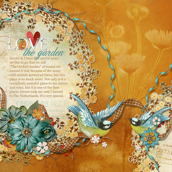 Love the Garden layout by Brandy Murry. See below for links to all products used in this digital scrapbooking layout.
