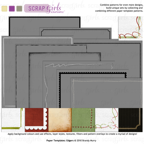 Also Available: ScrapSimple Paper Templates: Edgers Biggie (Sold Separately)