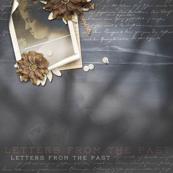 """Letters from the Past"" layout by Brandy Murry"