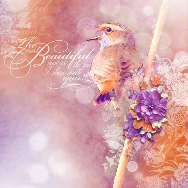 Scrapsimple embellishment templates paper flowers beautiful bird digital scrapbooking layout by brandy murry mightylinksfo