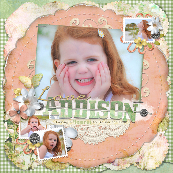 Addison layout by Brandy Murry. See below for links to all products used in this digital scrapbooking layout.