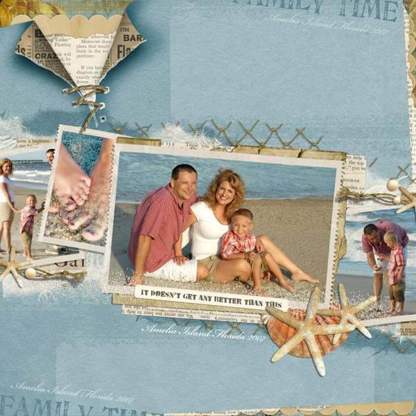 Family Time layout by Brandy Murry. See below for links to all products used in this digital scrapbooking layout.