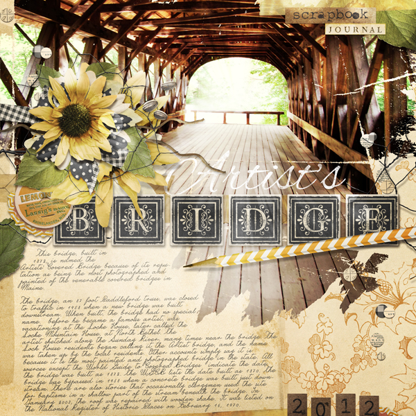 """Artist's Bridge"" layout by Brandy Murry"