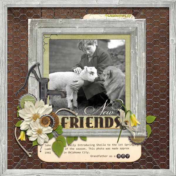 New Friends layout by Brandy Murry. See below for links to all products used in this digital scrapbooking layout.