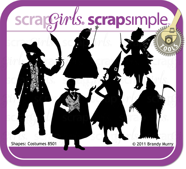 ScrapSimple Tools - Shapes: Costumes - Commercial License