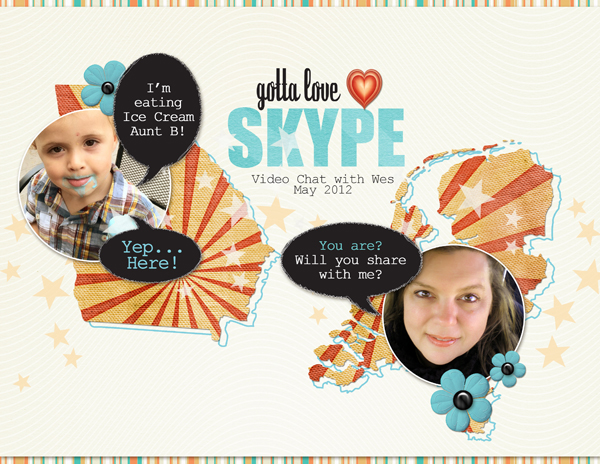 <p>Gotta Love Skype layout by Brandy Murry. See below for links to all products used in this digital scrapbooking layout.</p>