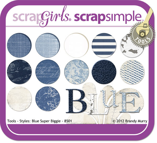 ScrapSimple Tools - Styles: Blue Super Biggie 8501
