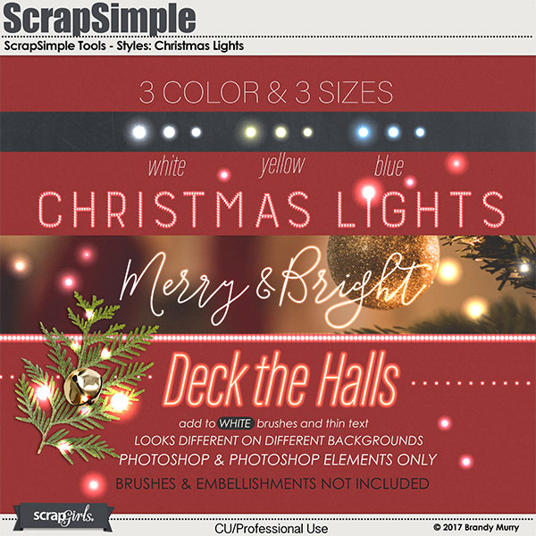 ScrapSimple Tools-Styles: Christmas Lights