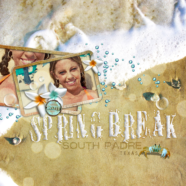 �Spring Break� layout by Brandy Murry. See below for links to all products used in this digital scrapbooking layout.