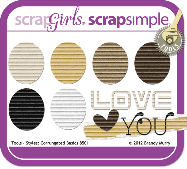ScrapSimple Tools - Styles: Corrugated Basics 8501