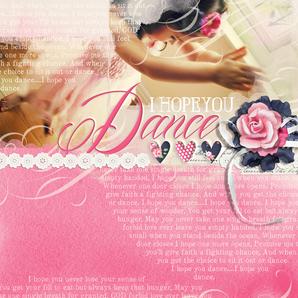 """I Hope You Dance"" digital scrapbooking layout by Brandy Murry"
