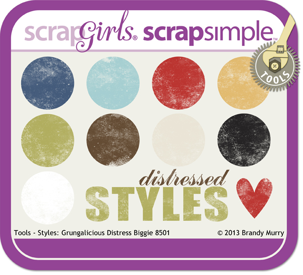 ScrapSimple Tools - Styles: Grungalicious Distress Biggie 8501
