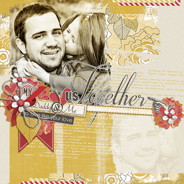 My Daddy & Me layout by Brandy Murry. See below for links to all products used in this digital scrapbooking layout.