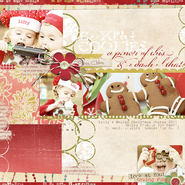 Baking Cookies layout by Brandy Murry. See below for links to all products used in this digital scrapbooking layout.