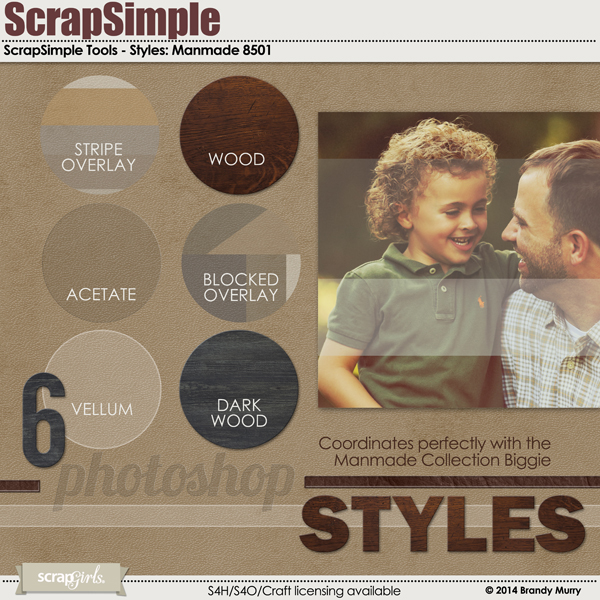 Also Available: ScrapSimple Tools - Styles: Manmade (Sold Separately)