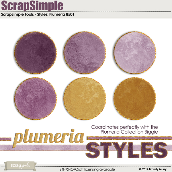 Also Available: ScrapSimple Tools - Styles: Plumeria (Sold Separately)