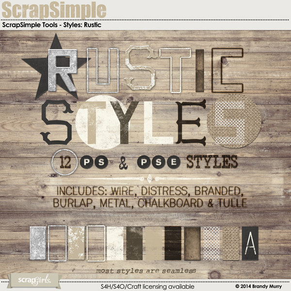 ScrapSimple Tools - Styles: Rustic Super Biggie