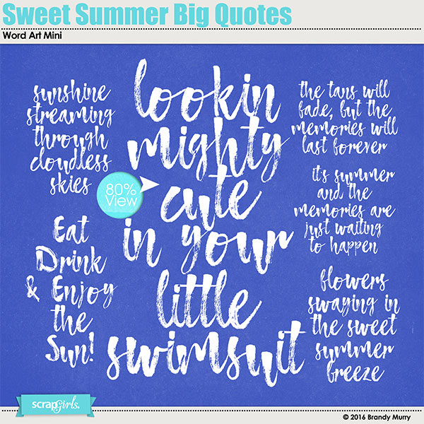 Sweet Summer Big Quotes
