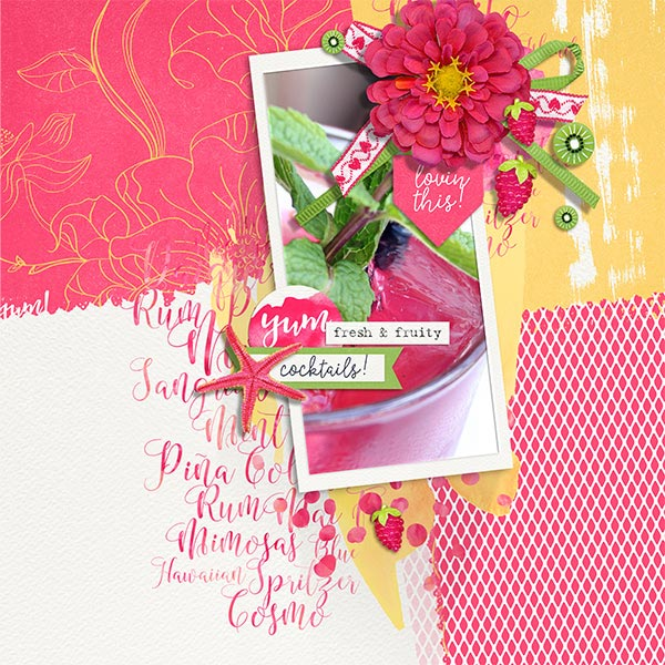 Fresh & Fruity layout by Brandy Murry