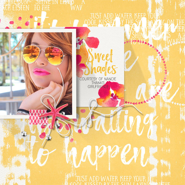 Cool Shades layout by Brandy Murry
