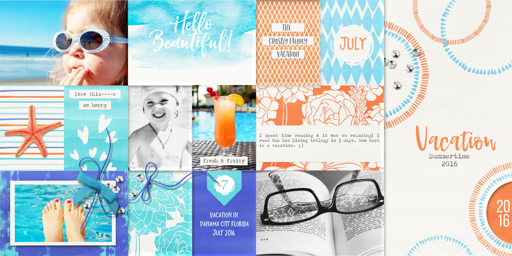 Vacation layout by Brandy Murry
