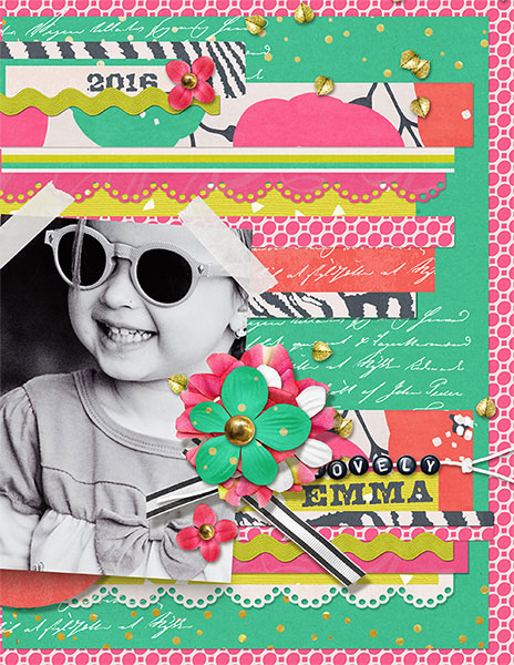 Emma digital scrapbooking layout by Brandy Murry