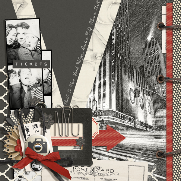 """NYC"" digital scrapbooking layout by Brandy Murry"