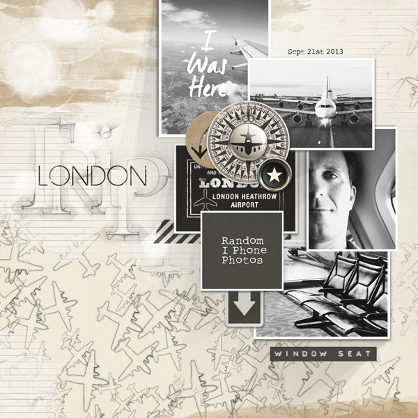 London Trip digital scrapbooking layout by Brandy Murry