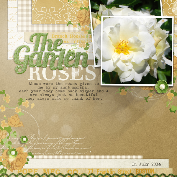 """Garden Roses"" layout by Brandy Murry"