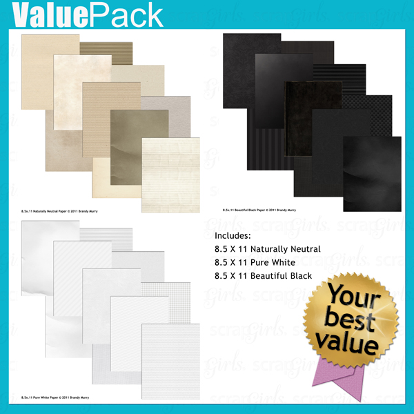 "Also Available: <a href=""http://store.scrapgirls.com/product/24789/"">8.5 x 11 Naturally Neutral Paper</a>(Sold Separately)"