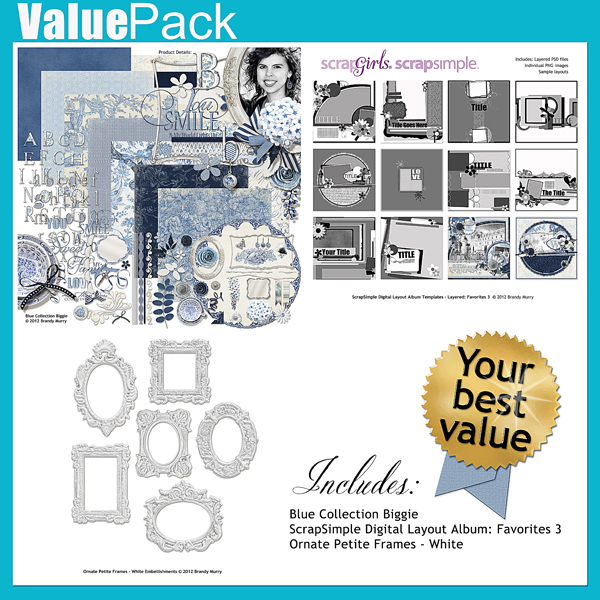 """Also Available: <a href=""""http://store.scrapgirls.com/product/25616/"""">Value Pack: Blue</a> (Sold Separately)"""