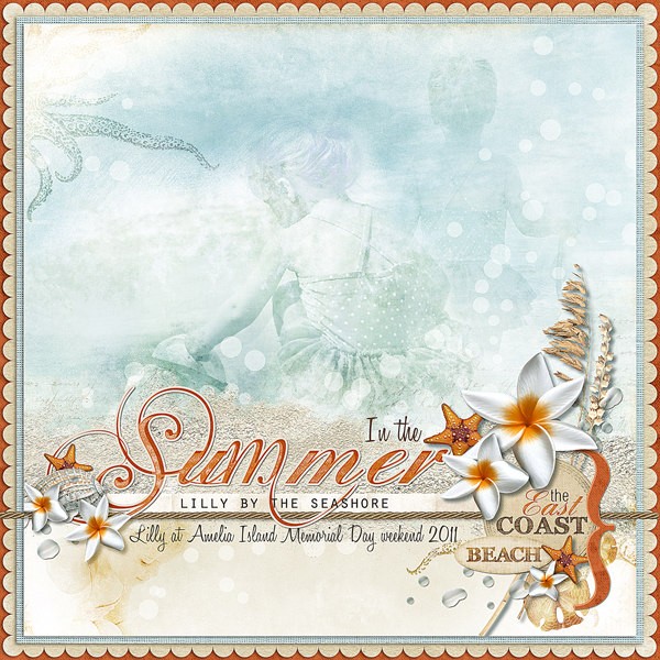 �In the Summer� by Brandy Murry. See below for links to all products used in this digital scrapbooking layout.