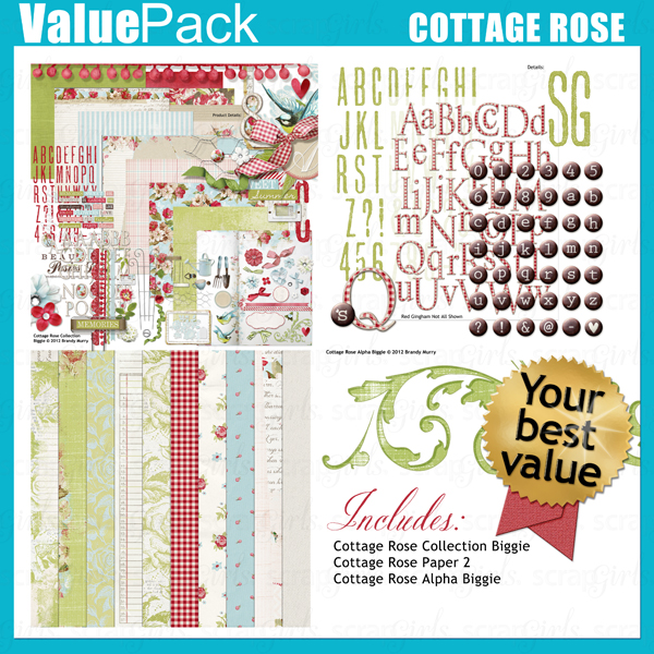 "Also Available: <a href=""http://store.scrapgirls.com/product/26335/"">Value Pack: Cottage Rose</a> (Sold Separately)"