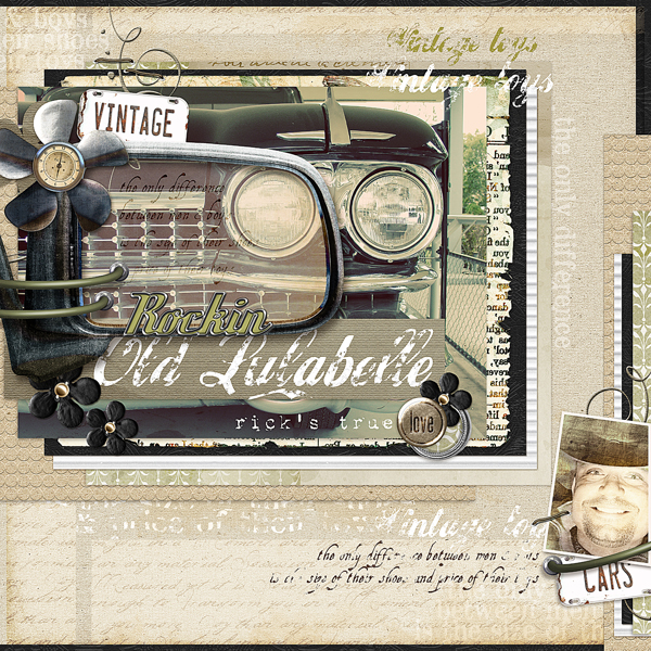 Rockin Lulabelle layout by Brandy Murry. See below for links to all products used in this digital scrapbooking layout.