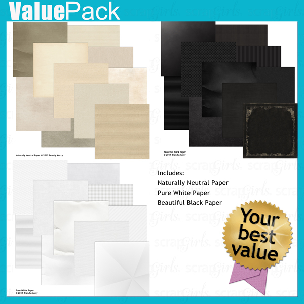 Value Pack: Black White and Neutral Paper