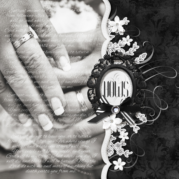 """""""Vows"""" digital scrapbooking layout by Brandy Murry"""