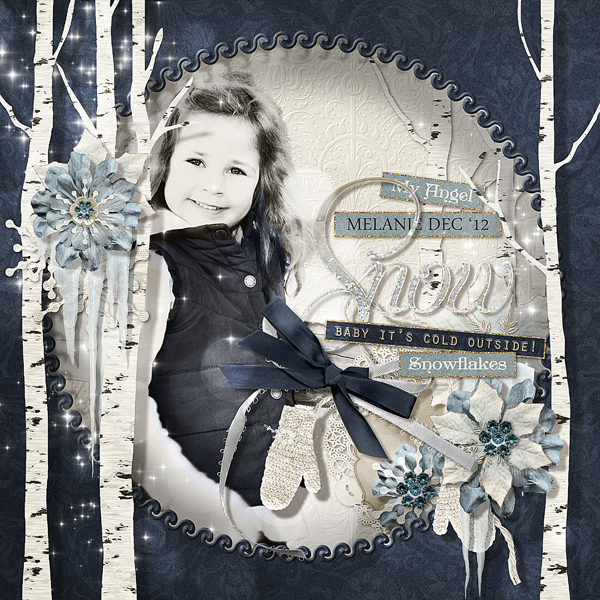 """""""Baby It's Cold Outside"""" layout by Brandy Murry"""