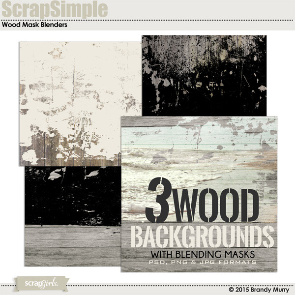 ScrapSimple Paper Templates: Wood Mask Blenders