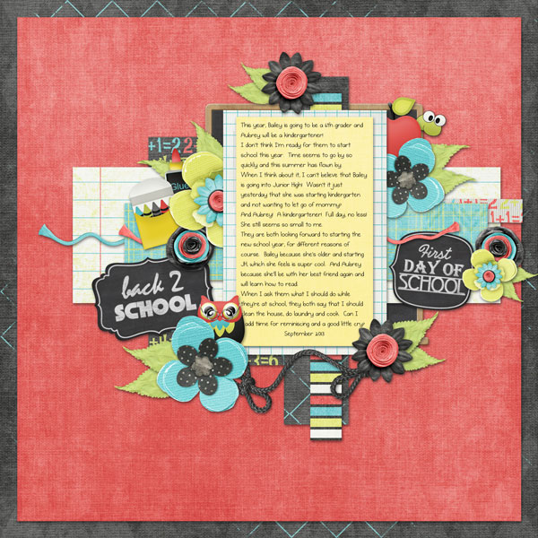 Layout using Luv 2 Learn - Chalboard Word Art